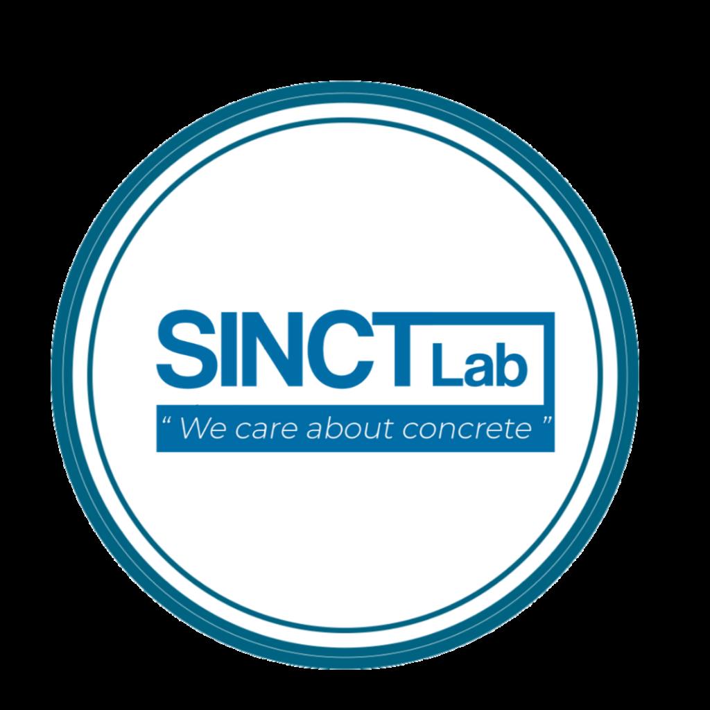 Sinctlab-We Care About Concrete- circle logo
